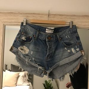EUC One Teaspoon The Bandits Denim shorts